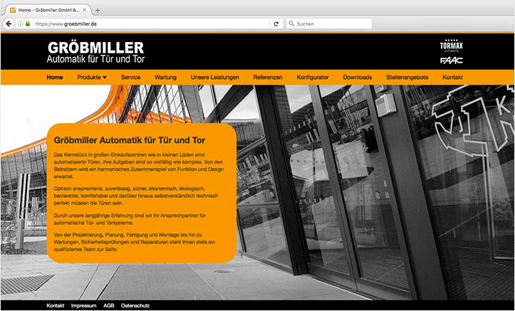 Gröbmiller Website Relaunch